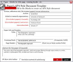How To Create An Apa Title Page Creating A Word Document Formatted For An Apa Student Paper