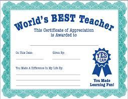 Best Teacher Award Certificate Printable Quotes