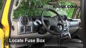 interior fuse box location 2003 2009 hummer h2 2003 hummer h2 interior fuse box location 2003 2009 hummer h2