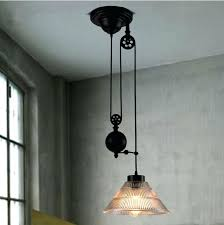 adjustable pendant lighting. Pulley Pendant Lighting New Modern Loft Vintage Industrial Lights W Adjustable Wire Lamps For . C