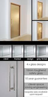 glass sliding pocket door for bathrooms 72d