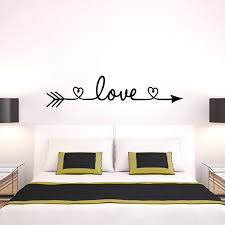 details about love arrow e wall stickers family bedroom living room decals home decor uk