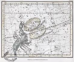 Libra And Scorpio Edited Star Chart Showing Libra And Scor