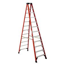 werner 12 ft fiberglass type 1a 300 lbs capacity step ladder