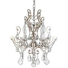 theresa vintage silver crystal chandelier mini plugin swag glass pendant 4 light wrought silver crystal chandelier69
