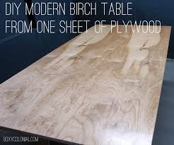 I secured with clamps, leftover pieces of my butcherblock countertop, paint. Diy Modern Birch Table From One Sheet Of Plywood