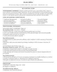 Example Accounting Clerk Resume Sample 5 Entry Level Examples