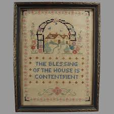 vintage house blessing cross stitch
