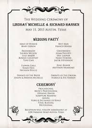 Wedding Program Scroll Western Wedding Invitations Program Western Scroll Border