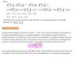 check therefore the complex number on the left side the complex number on the