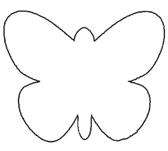 Printable Butterfly Outline 25 Fresh Paper Crafts For Spring Butterfly Coloring Page