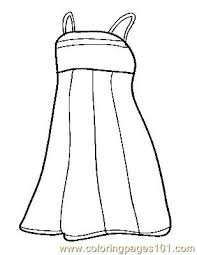 Small Picture Dress Coloring Page Free Clothes Coloring Pages