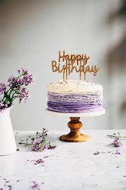 Latest Birthday Cake Design 2017 30th Birthday Chocolate Cake With Lavender Ruffle Frosting