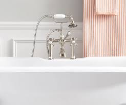 tap deck with 7 rim holes if you have chosen a deck mount tub faucet or a faucet that mounts to the rim of the tub then you will need a tub featuring a