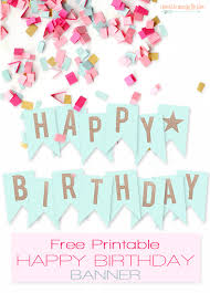 Birthday Cards Free Download Printable Custom Free Printable Happy Birthday Banner Printables Pinterest