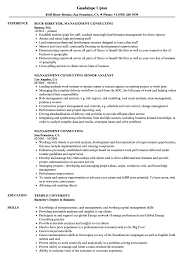 Sample Management Consultant Resume Management Consulting Resume Samples Velvet Jobs 53