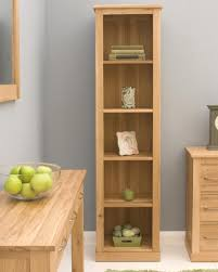 Light Oak Living Room Furniture Narrow Solid Oak Bookcase This Tall Narrow Oak Bookcase Is An