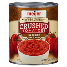 meijer crushed tomato in puree low