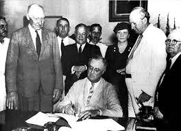 bbc iwonder franklin d roosevelt the first modern president franklin d roosevelt fdr signs the social security bill