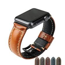 genuine high quality waxed leather apple watch band