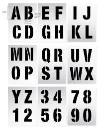 large letter stencils 100mm alphabet