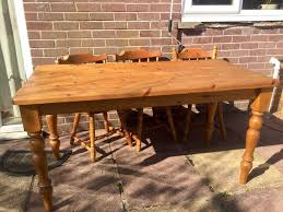 pine dining room table.  Pine 6 Seater Solid Pine Dining Table 25 Well Loved And Used FREE Chairs In Pine Dining Room Table Gumtree