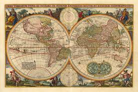 download antique map world  major tourist attractions maps