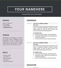 Professional Resume Template Word Gorgeous Clean Resume Template Word Professional Resume Templates In Word