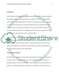Tips For Effective Oral Presentations Essay Example Topics
