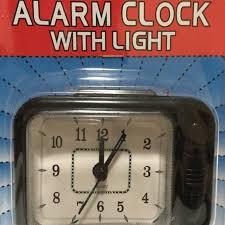 small portable desk top quartz travel alarm clock easy to read with light new
