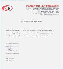 Certificate Format In Word Stunning Experience Letter Format For Civil Engineer Copy Ex Cute Experience