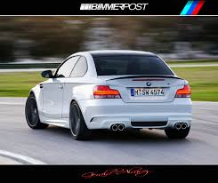 BMW 5 Series bmw m1 rear : Render of the M1 rear view **