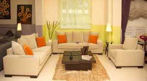 Good Dazzling Living Room Set And Modern Table Lamps With Brown Fur Rug Nice Ideas