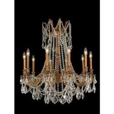 worldwide lighting w83308fg28 cl windsor 10 light french gold finish and clear crystal chandelier