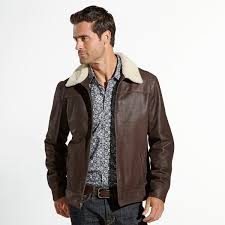 sheepskin leather shearling collar flight jacket from the wright brothers