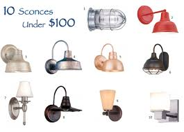 10 barn light electric sconces under 100