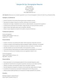 Ultrasound Resume Sample Sample Ob Gyn Sonographer Resume Technician Resume Sample Pinterest 10