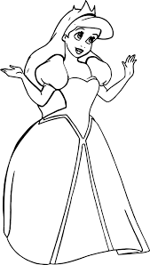 Small Picture Wedding Princess Ariel Coloring Page Wecoloringpage