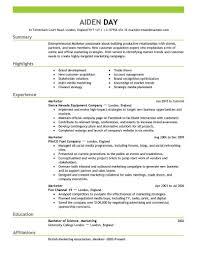 Entry Level Marketing Resume Samples Fresh Best Resume Format For