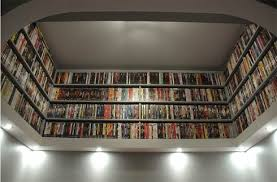 DIY Project Beautiful DVDs Books Storage Idea