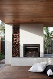bower architecture renovate a private home in caulfield modern outdoor fireplaceoutdoor