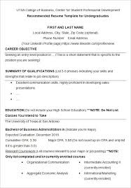 Example Resumes For College Students Stunning Good High School Resume Examples For College Students Popular