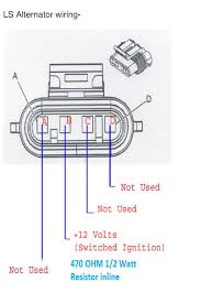 ls alternator wiring solidfonts four wire gm alternator wiring diagram nilza net