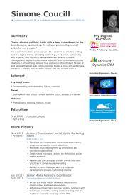 account coordinator social media marketing intern resume samples social media marketing resume sample