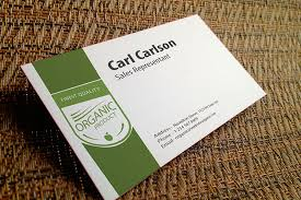 Sales Business Cards Silk Laminated Business Cards