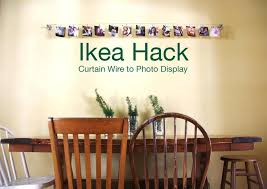 ikea hack curtain wire to photo display redleafstyle com