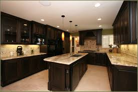 Cream Colored Kitchen Cabinets With Dark Island Cabinet 46486