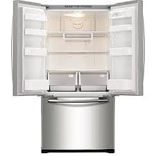 refrigerator 18 cu. samsung rf18hfenbsr 18 cu. ft. capacity counter depth french door refrigerator stainless steel cu d