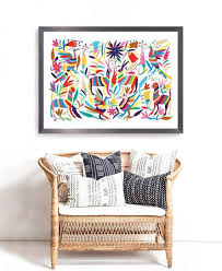 otomi mexico wall hanging 24x36in big