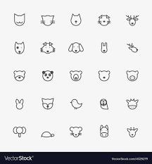 Animal Icon Set Of Minimalistic Animal Line Icons